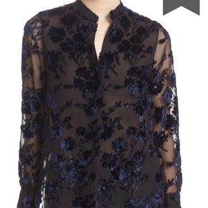 alice + olivia BelleOversize Embroidered Tunic